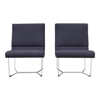 Chrome Slipper Chairs - A Pair