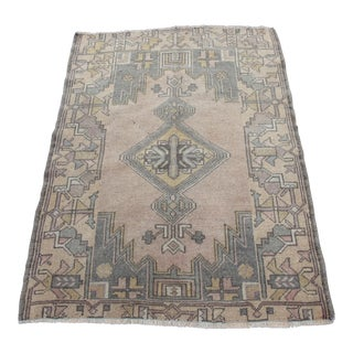 Traditional Turkish Hand-Knotted Wool Rug - 2′8″ × 3′5″