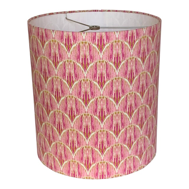 Ikat Rose Pink Lampshade For Sale