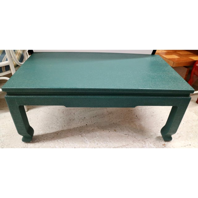 Linen Wrapped Asian Style Coffee Table - Image 6 of 6