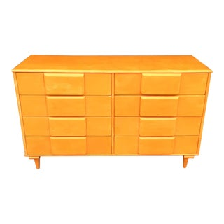 Vintage Mid Century Modern Double Chest of Drawers For Sale