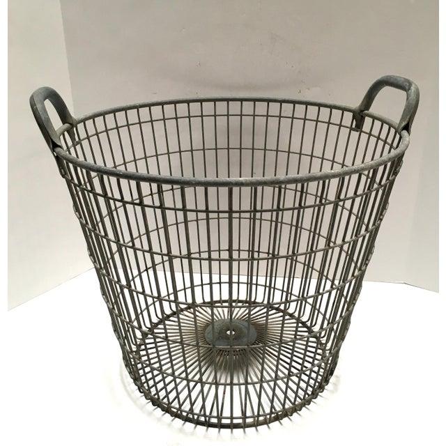 Vintage Belgian Metal Potato Basket - Image 6 of 6