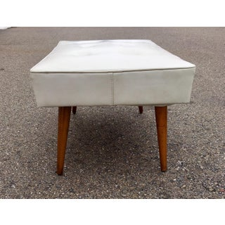 Vintage Mid Century White Tufted Bench Preview