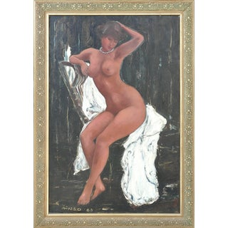 """Seated Nude"" Painting by Sirje Okas Ainso For Sale"