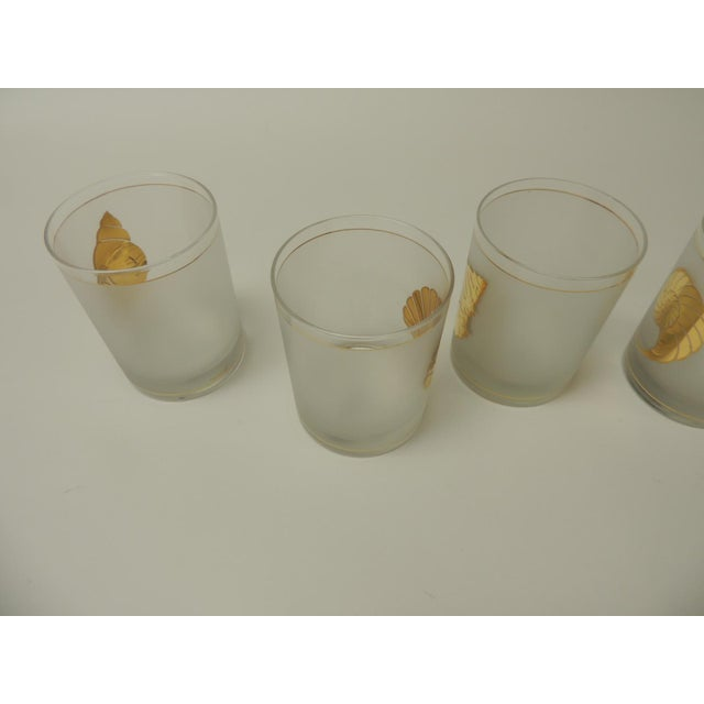 Set of (4) Double Old-Fashioned Frosted Glass Drinking Glasses For Sale In Miami - Image 6 of 7