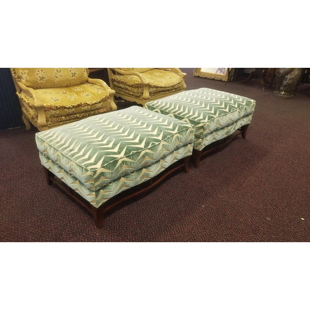 Classic Donghia Victoire Ottomans - a Pair For Sale - Image 10 of 13