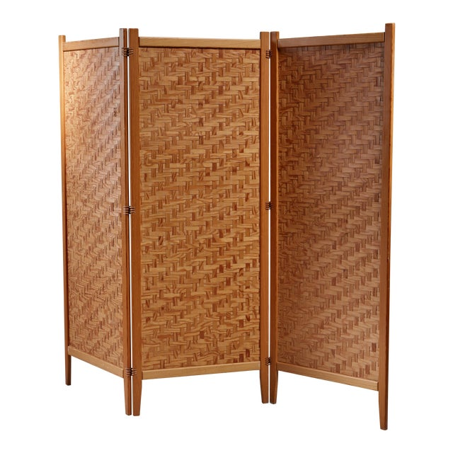 Pine folding screen, Sweden For Sale