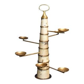 Parchment Sculptural Candleholder For Sale