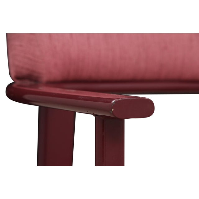 Dusty Rose and Berry Barrel Back Side Chairs - a Pair - Image 4 of 6