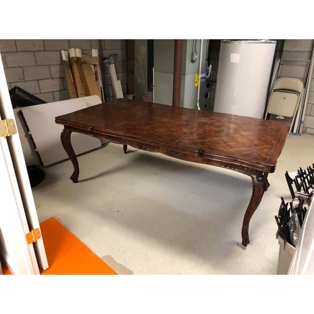French Provencale Style Parquet Dining Table For Sale - Image 11 of 12