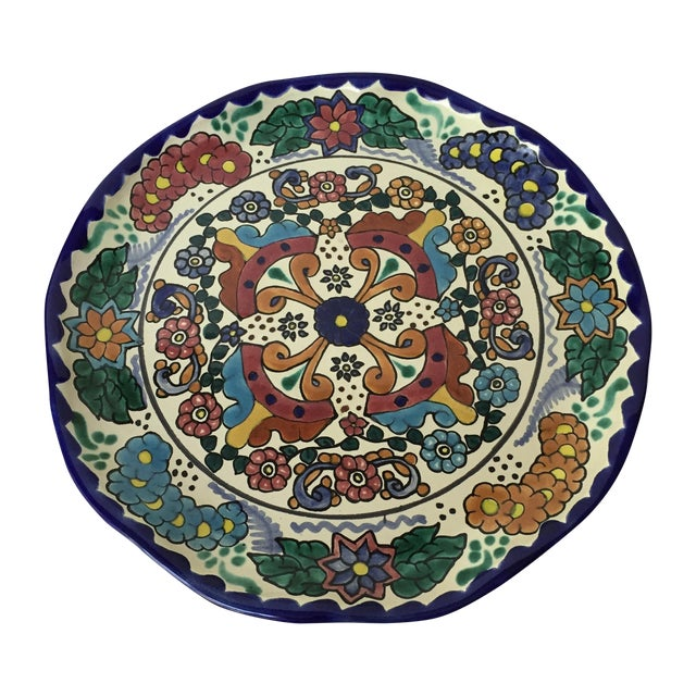 Mexican Pottery Platter For Sale