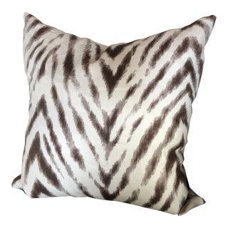 Zebra Stripe Linen Throw Pillow For Sale