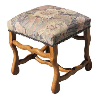 Mid-19th Century French Louis XIII Style Os De Mouton Walnut Low Stool For Sale