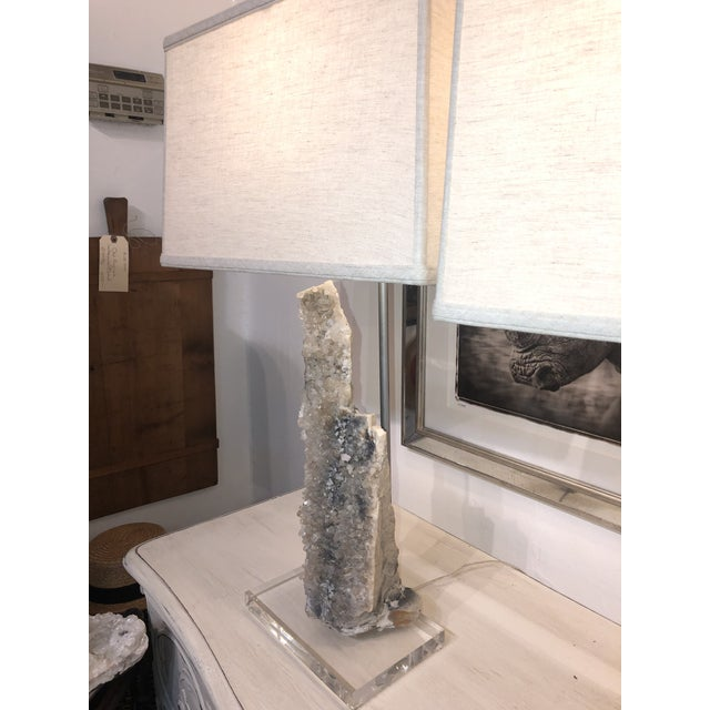 Early 21st Century One of a Kind Crystal Lamps - a Pair For Sale - Image 5 of 13