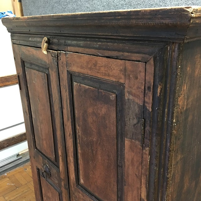 Refinished Antique Wooden Armoire - Image 8 of 10