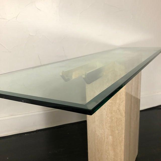 1970s Italian Marble/Brass Artedi Console Table For Sale In San Antonio - Image 6 of 13