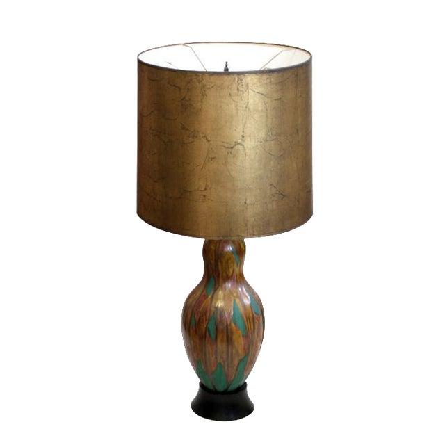 Ceramic Gourd Shaped Lamp - Image 1 of 6