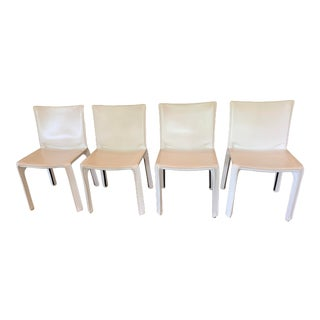 Cassina White Cab Chairs - Set of 4 For Sale