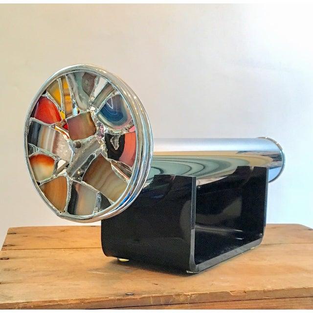 Modern Art Glass Chrome Agate Kaleidoscope - Image 2 of 7