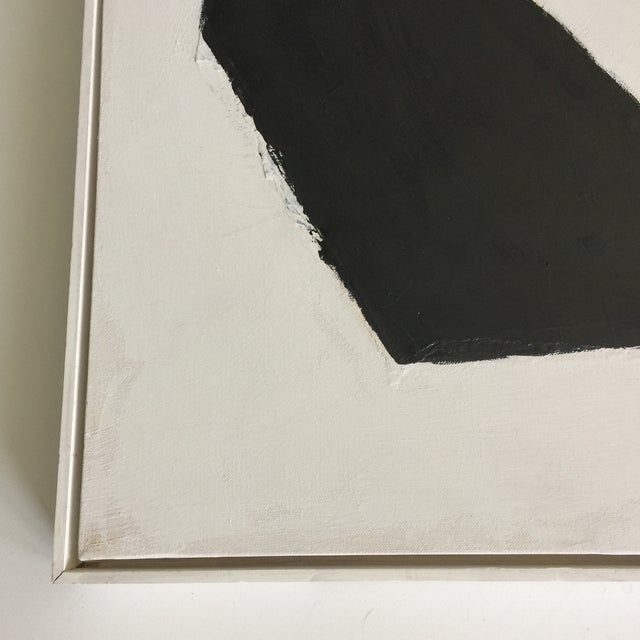 Black and White Acrylic Abstract Painting - Image 2 of 6