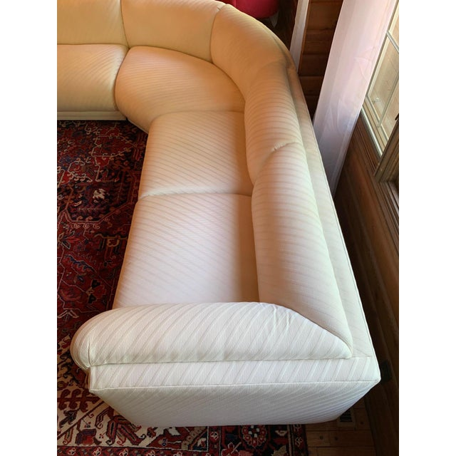 Vintage Bernhardt 3 Piece Sectional Sofa Attributed to Milo Baughman-1989 For Sale - Image 10 of 13