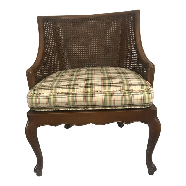 Excellent Vintage Mid Century Cane Back Barrel Chair Accent Chair Gamerscity Chair Design For Home Gamerscityorg