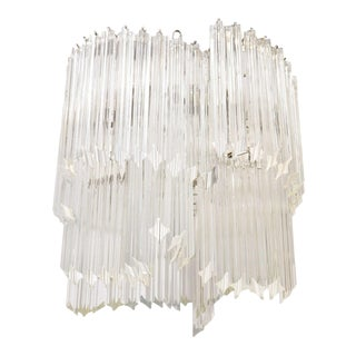 Mid Century Glass Rod Chandelier by Venini For Sale