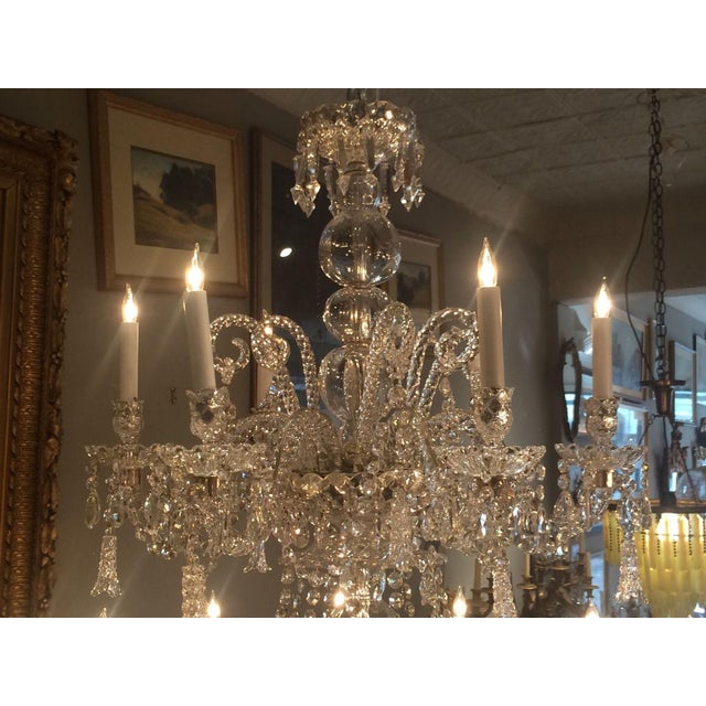 Antique Cut Crystal 18 Light Chandelier - Image 3 of 11