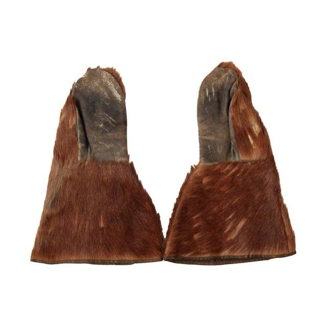 Antique Fur Mitten Gloves - A Pair - Image 1 of 5