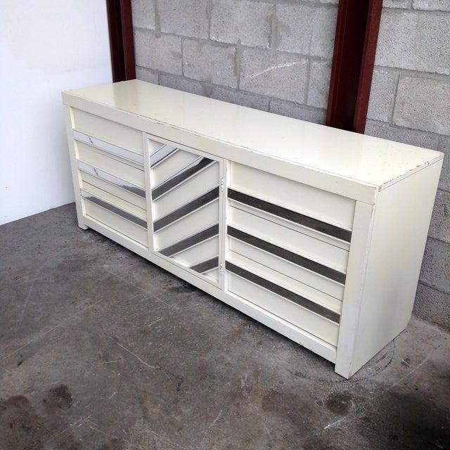 Vintage Chrome & White Lacquered Dresser - Image 3 of 5