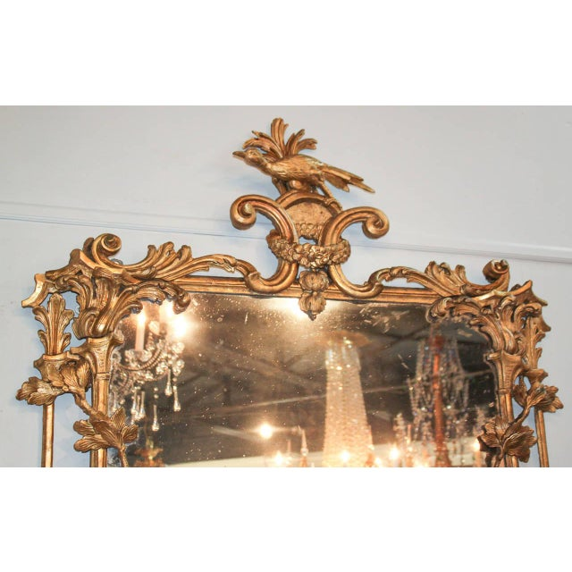 Chippendale Rare Early 19th Century English Chippendale Gilt Mirror For Sale - Image 3 of 10