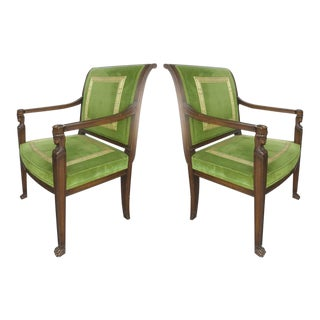 20th Century Renasaince Cocheo Bros, Fine Quality Chairs, Pair