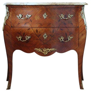 19th Century French Louis XV Style Bombe Commode For Sale