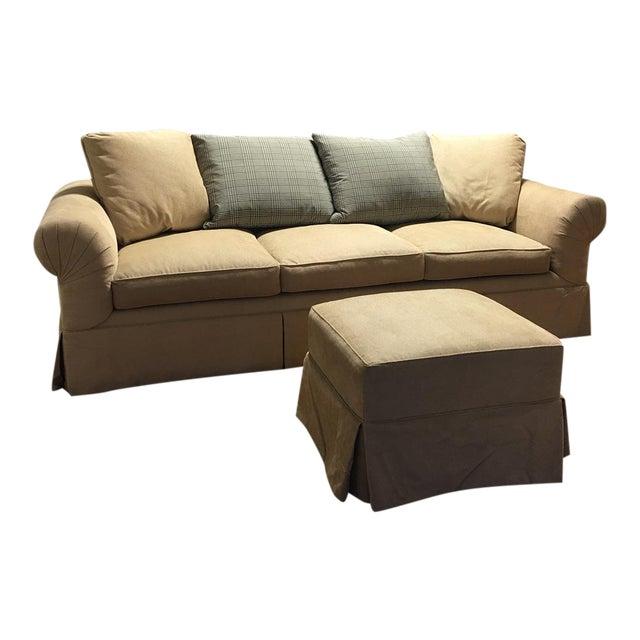 kreiss tan giverny sofa ottoman chairish