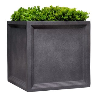 Extra Large Eversley Square Planter, Lead Lite For Sale