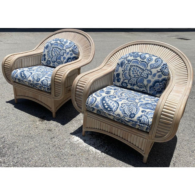 1970s Vintage Bamboo Lounge Chairs - a Pair For Sale - Image 10 of 10
