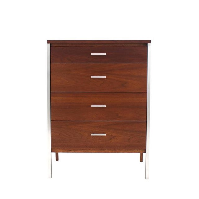Four Drawers Small Petit Narrow Bachelor Chest For Sale - Image 9 of 10