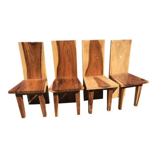 Straight Back Chair - Set of 4