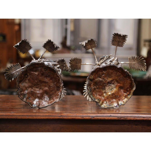 Pair of Early 20th Century Silvered Bronze Centerpieces With Deer Sculpture For Sale - Image 11 of 12