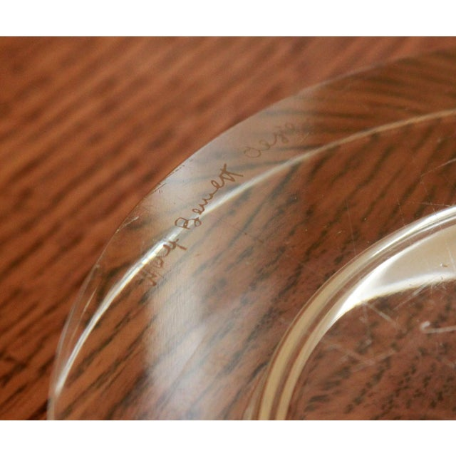 Ward Bennett Art Glass Wine Bottle Coaster - Image 8 of 9