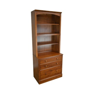 Ethan Allen Country Colors Collection Maple Bookcase Top File Cabinet Chest For Sale