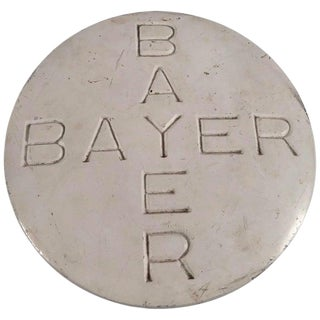 Vintage Oversized Bayer Aspirin Pill in Plaster For Sale