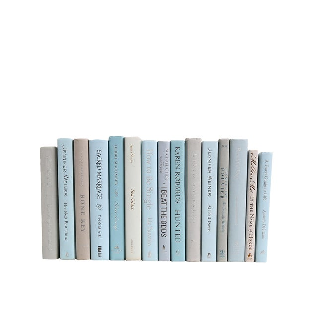 Modern Muted MIX - Fifteen Decorative Books For Sale