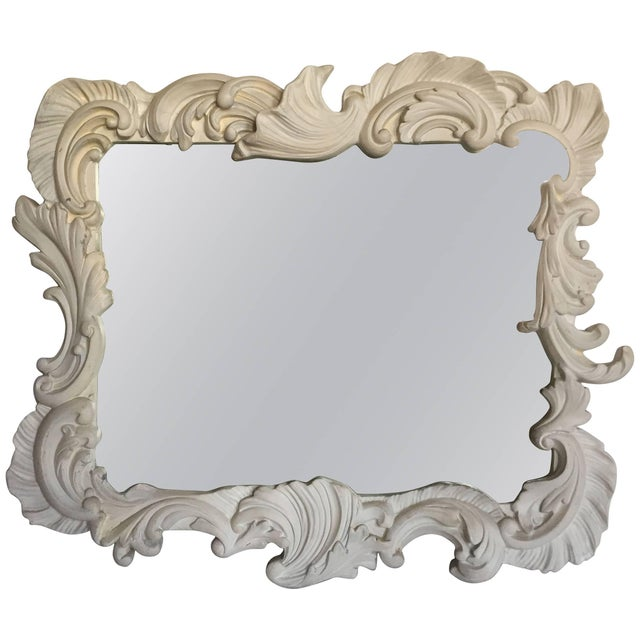 White Fabulous Vintage Large Plaster Mirror in the Manner of Dorothy Draper For Sale - Image 8 of 8