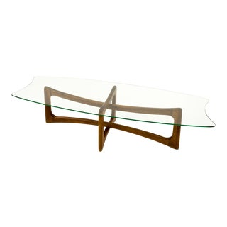 Adrian Pearsall Ribbon Coffee Table With Stingray Glass Top