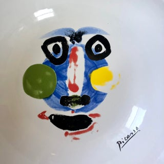 """Picasso Living Face 1963 Masterpiece Editions 13"""" Bowl Preview"""