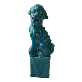 Turquoise Foo Dog Figurine For Sale