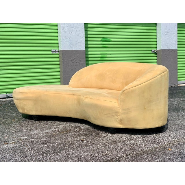 Vladimir Kagan Vladimir Kagan Style Serpentine Tan Cloud Sofa For Sale - Image 4 of 11
