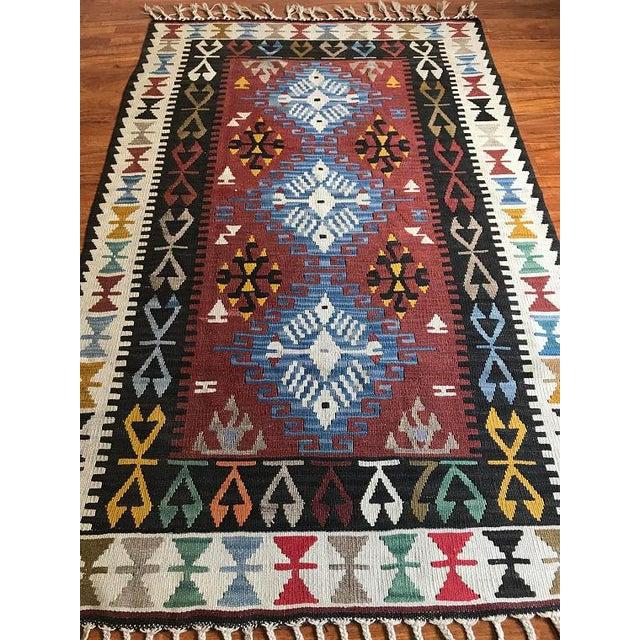 "Vintage Anatolian Kilim - 5'8"" X 3'7"" For Sale - Image 5 of 9"