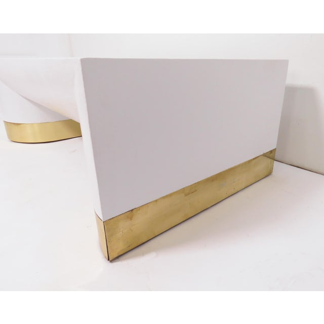 White Lacquered Linen Jay Spectre for Century Furniture Coffee Table, Circa 1970s For Sale - Image 8 of 11